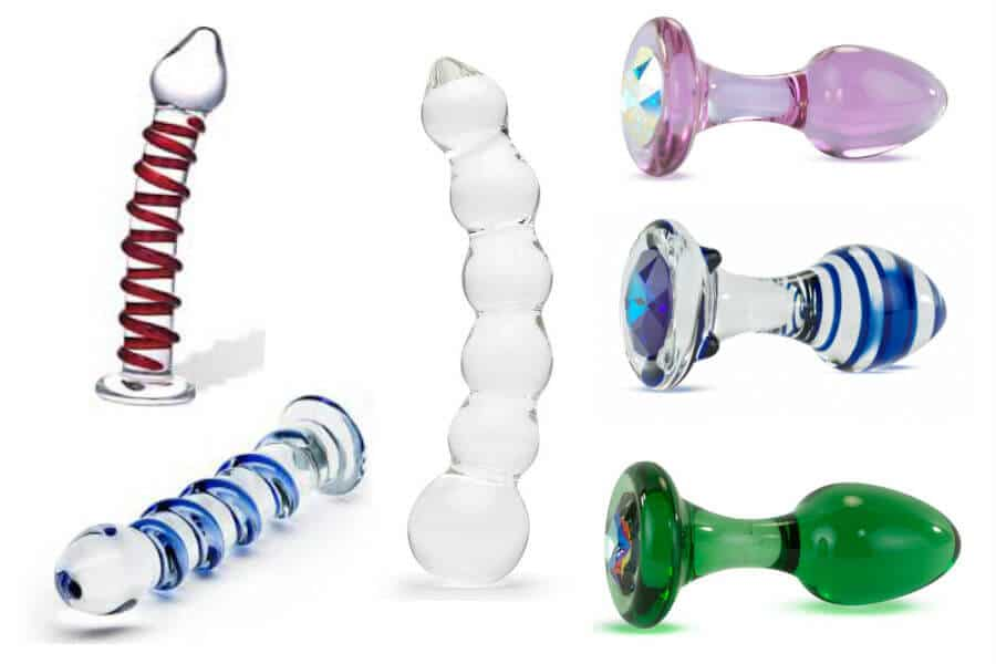 Sex toys made of glass: butt plugs and dildos