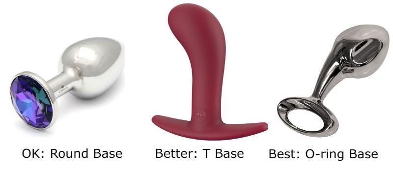 Butt plug round base vs t-base vs o ring base