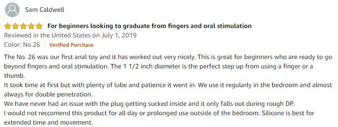 Icicles 26 glass butt plug 5 star review
