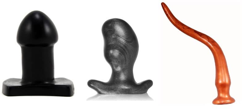 Shape comparison of a butt plug for anal stretching vs long term wear vs depth play