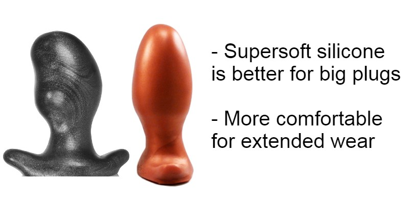 Examples of super soft silicone plugs