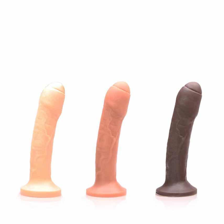 Tantus O2 uncut #2 realistic dildos in flesh tones