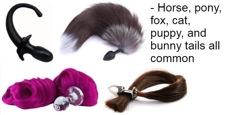 Types of animal tail anal plugs