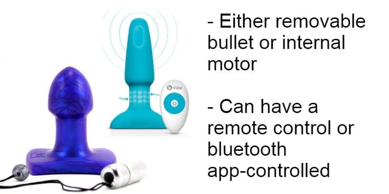 Vibrating anal plugs: bullet vibe vs internal motor
